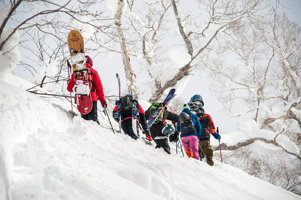 Backcountry ski touring in Japan