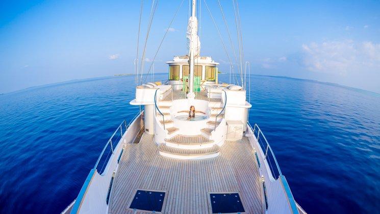 whirlpool on board the Soneva in Aqua