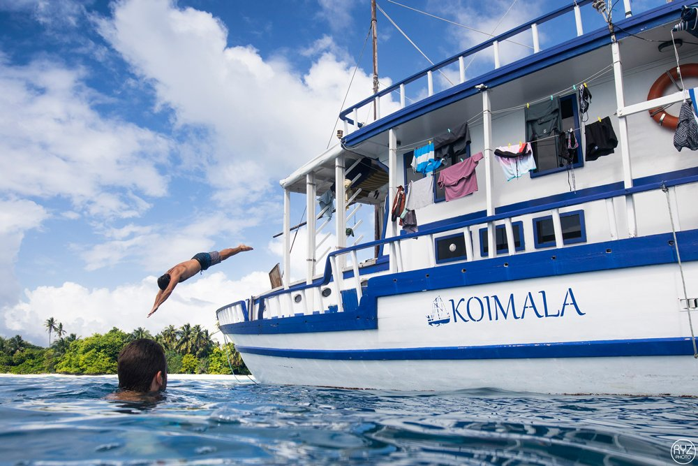 jump from the Koimala in the Maldives