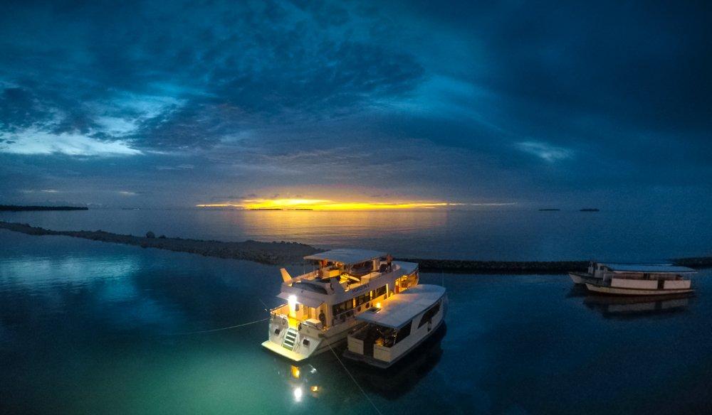 The Blue Horizon II at night