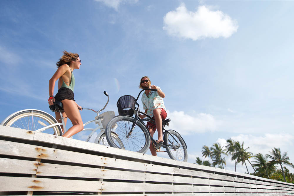 Biking in paradise