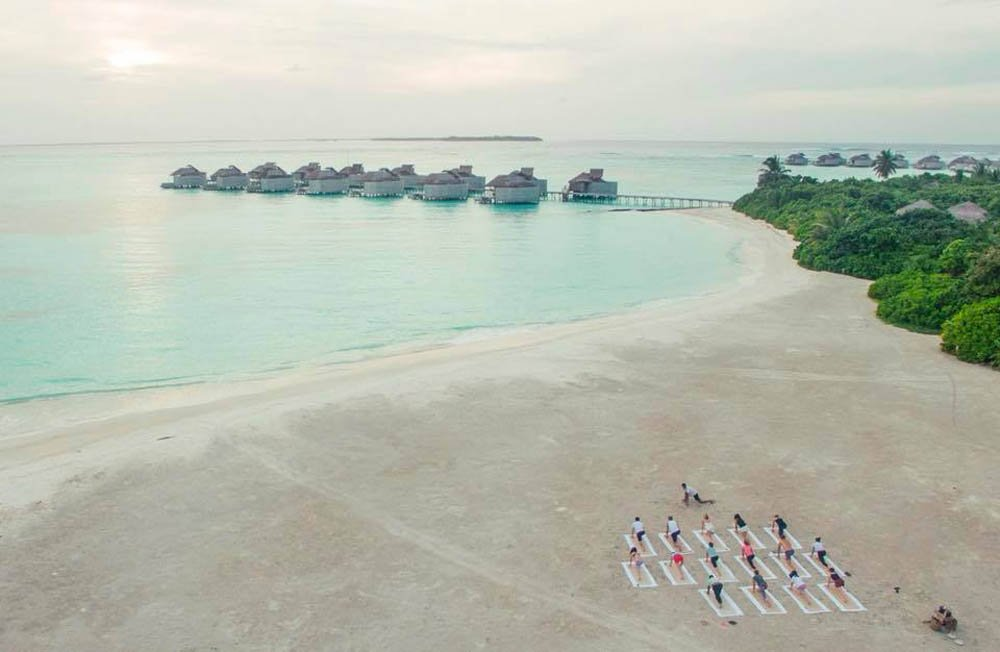 Yoga at Six Senses Laamu im the Maldives