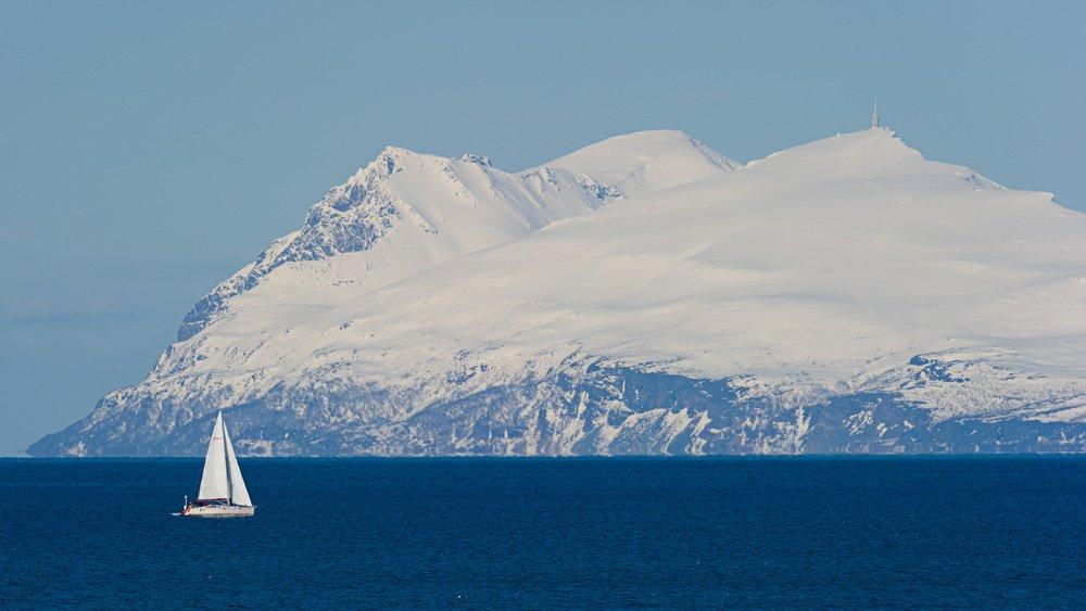 Sailboat in Senja, Norway