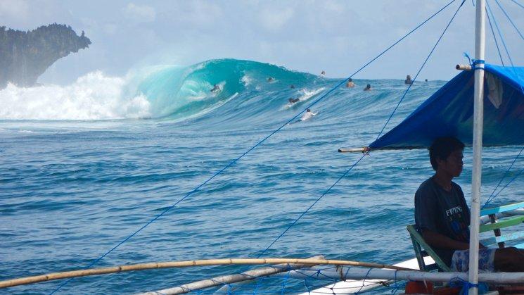 Surfing in Siargao, Phillippines