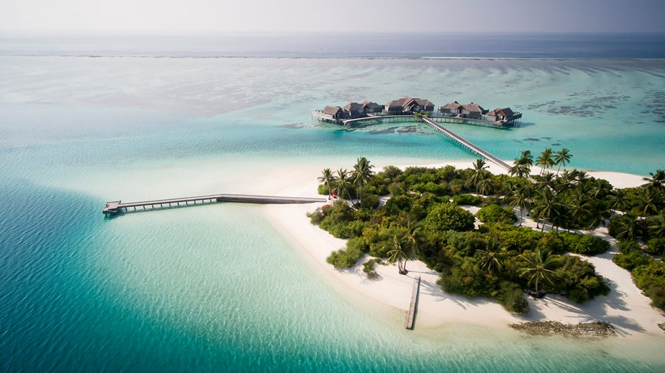 Niyama Private Islands Maldives drone shot