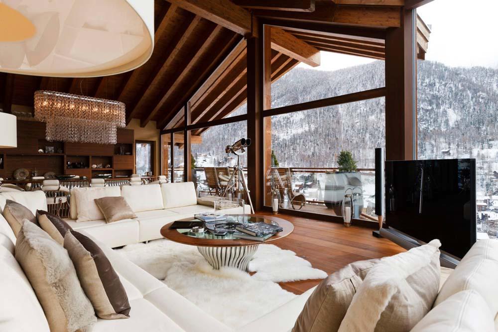 The view from chalet Zermatt Peak