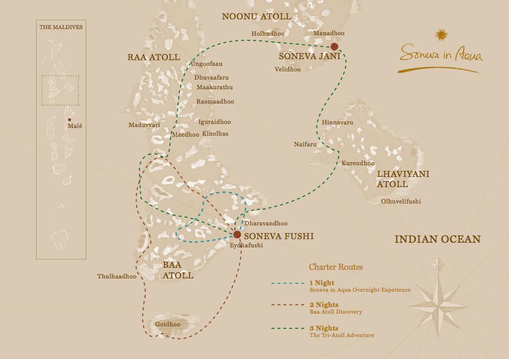 Itinerary Soneva in Aqua